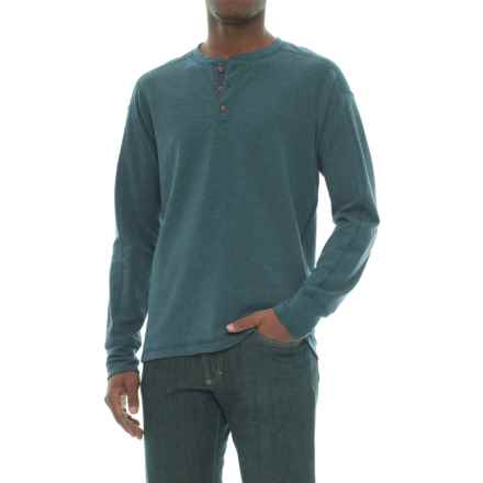 The North Face TNF Terry Henley Shirt - Long Sleeve (For Men) in Conquer Blue - Closeouts