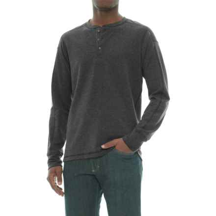 The North Face TNF Terry Henley Shirt - Long Sleeve (For Men) in Tnf Dark Grey Heather - Closeouts