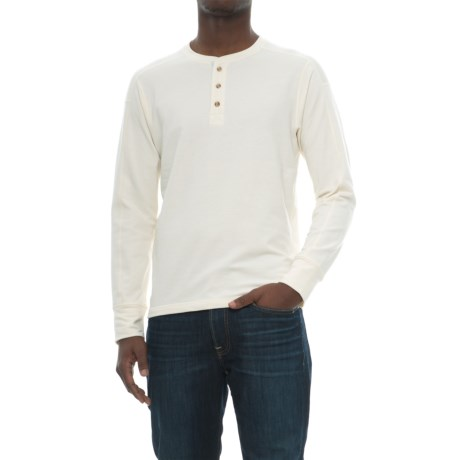 The North Face TNF Terry Henley Shirt - Long Sleeve (For Men) in Vintage White