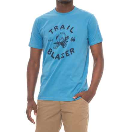 The North Face Trail Blazer T-Shirt - Slim Fit, Short Sleeve (For Men) in Cendre Blue - Closeouts