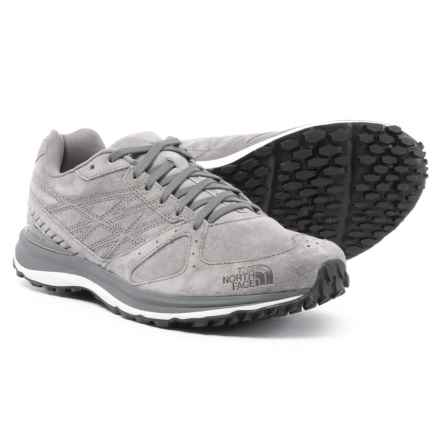 The North Face Traverse TR Shoes - Suede (For Men) in Dark Shadow Grey/Tnf Black - Closeouts