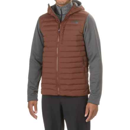 The North Face Trevail Stretch Hybrid Down Hooded Jacket - 700 Fill Power (For Men) in Sequoia Red/Asphalt Grey - Closeouts