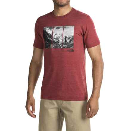 The North Face Trimeru Tri-Blend T-Shirt - Short Sleeve (For Men) in Biking Red Heather - Closeouts