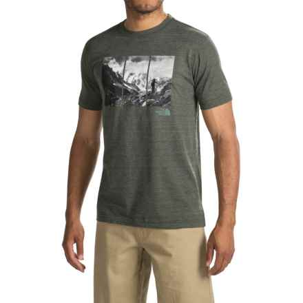 The North Face Trimeru Tri-Blend T-Shirt - Short Sleeve (For Men) in Rosin Green Heather - Closeouts