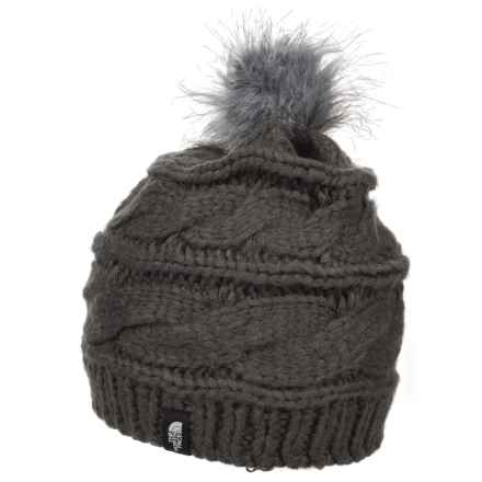 The North Face Triple Cable Pom Beanie (For Women) in Asphalt Grey - Closeouts
