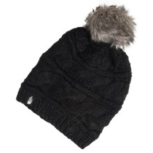 The North Face Triple Cable Pom Beanie (For Women) in Tnf Black - Closeouts