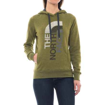 The North Face Trivert Hoodie (For Women) in Burnt Olive Green Heather/Asphalt Grey Multi - Closeouts