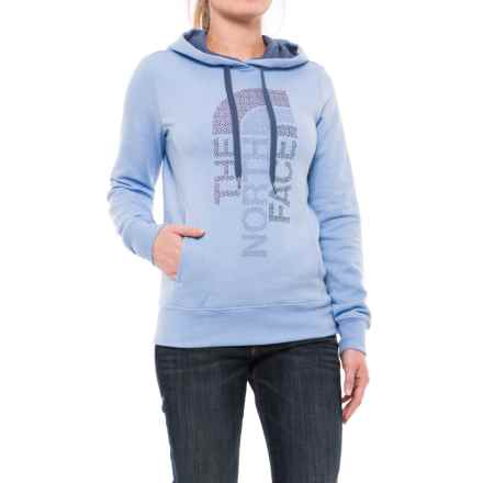 The North Face Trivert Hoodie (For Women) in Chambray Heather/Coastal Fjord Blue Multi - Closeouts