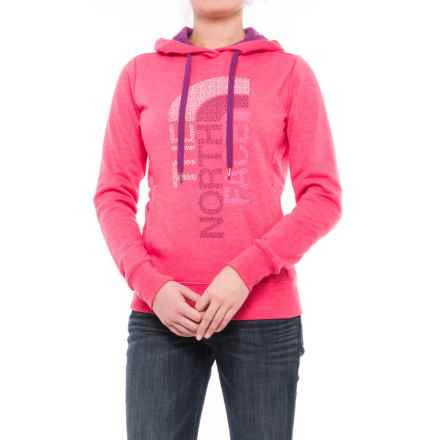 The North Face Trivert Hoodie (For Women) in Honeysuckle Pink Heather/Wood Violet Multi - Closeouts