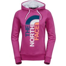 The North Face Trivert Hoodie (For Women) in Luminous Pink/Tnf White - Closeouts