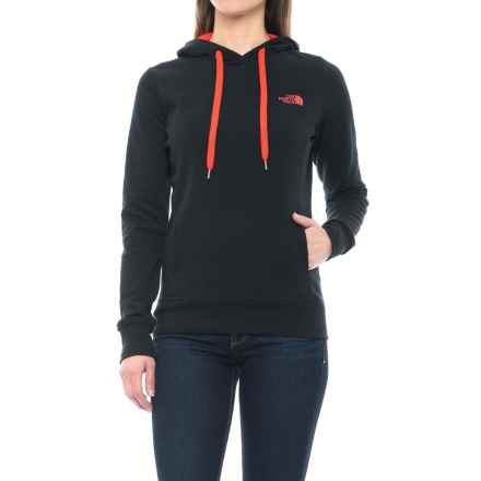 The North Face Trivert Hoodie (For Women) in Tnf Black/Fire Brick Red - Closeouts