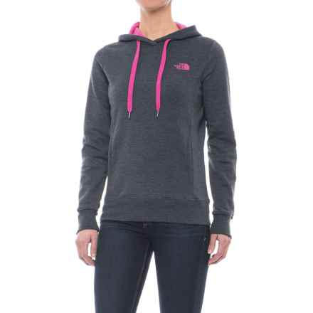 The North Face Trivert Hoodie (For Women) in Tnf Dark Grey Heather/Petticoat Pink - Closeouts
