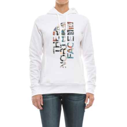 The North Face Trivert Hoodie (For Women) in Tnf White/Tnf White Glamping Print - Closeouts