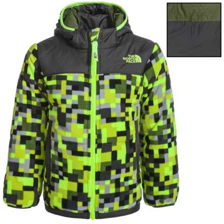 The North Face True or False Reversible Jacket (For Toddler Boys) in Safety Green Pixel Print - Closeouts