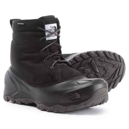 The North Face Tsumoru Snow Boots - Waterproof, Insulated (For Women) in Tnf Black/Dark Gull Grey - Closeouts
