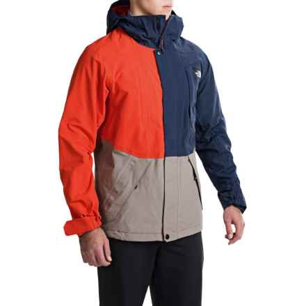 The North Face Turn It Up Ski Jacket - Waterproof (For Men) in Cosmic Blue/Brindle Brown/Acrylic Orange - Closeouts