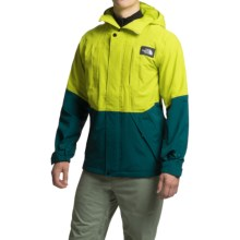 The North Face Turn It Up Ski Jacket - Waterproof (For Men) in Depth Green/Venom Yellow - Closeouts