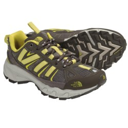 The North Face Ultra 50 Trail Running Shoes (For Women) in Shroom Brown/Citronelle Green