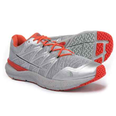 The North Face Ultra Cardiac II Trail Running Shoes (For Men) in High Rise Grey/Valencia Orange - Closeouts