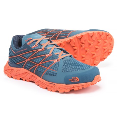 The North Face Ultra Endurance Trail Shoes (For Women) in Provincial Blue/Nasturtium Orange