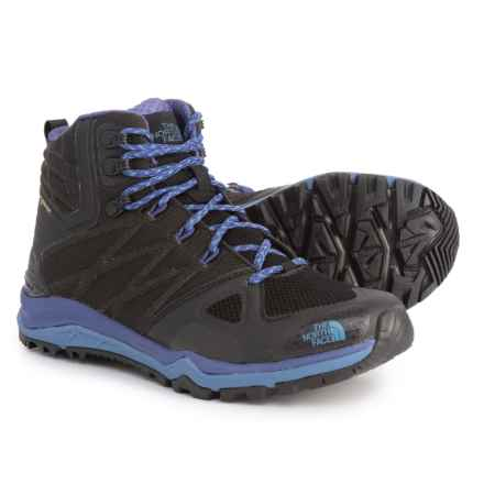 The North Face Ultra Fastpack II Mid Gore-Tex® Hiking Boots - Waterproof (For Women) in Tnf Black/Bright Navy - Closeouts