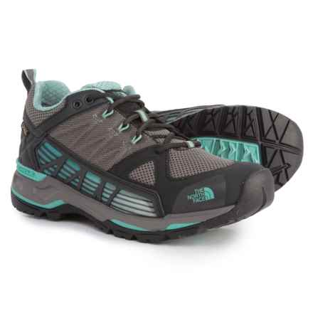 The North Face Ultra Gore-Tex® Surround Hiking Shoes - Waterproof (For Women) in Dark Gull Grey/Agate Green - Closeouts
