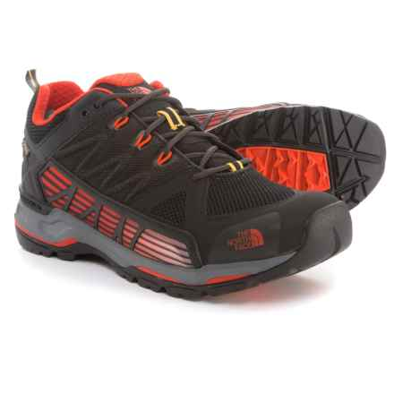 The North Face Ultra Gore-Tex® Surround Low Hiking Shoes - Waterproof (For Men) in Tnf Black/Poinciana Orange - Closeouts