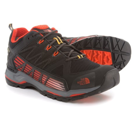 The North Face Ultra Gore-Tex® Surround Low Hiking Shoes - Waterproof (For Men) in Tnf Black/Poinciana Orange
