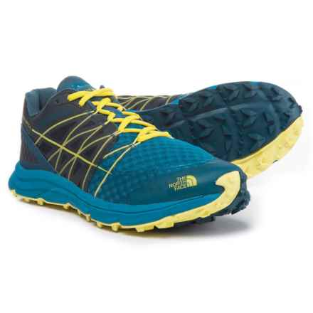 The North Face Ultra Vertical Trail Running Shoes (For Men) in Seaport Blue/Acid Yellow - Closeouts