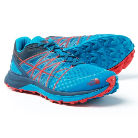 The North Face Ultra Vertical Trail Running Shoes (For Men) in Shady Blue/Hyper Blue