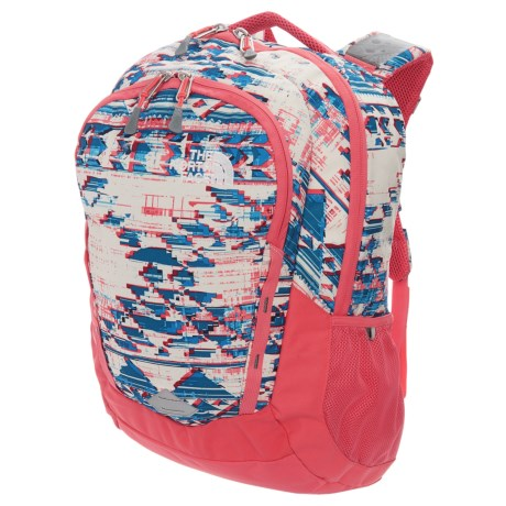 The North Face Vault 28L Backpack (For Women) in Vintage White Native Frequencies Print/Calypso Cor