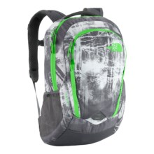 The North Face Vault Backpack in Graphite Grey Forestscape/Krypton Green - Closeouts