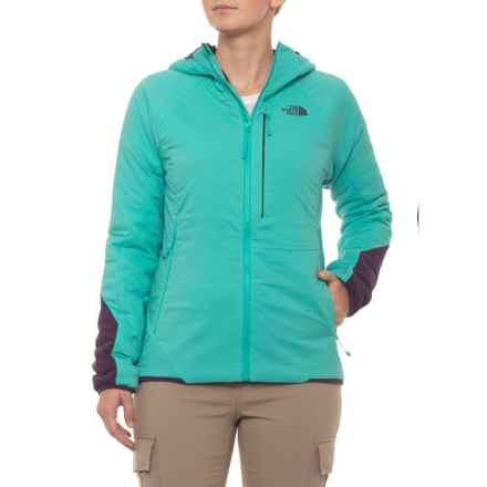The North Face Ventrix Full-Zip Hoodie - Insulated (For Women) in Vistula Blue/Dark Eggplant Purple - Closeouts