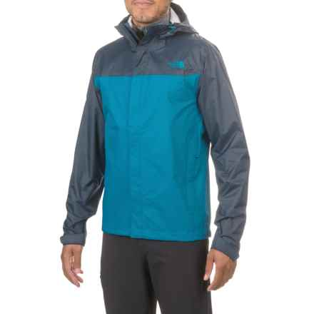 The North Face Venture Hooded Jacket - Waterproof (For Men) in Banff Blue/Urban Navy - Closeouts