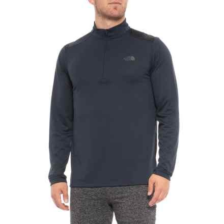 The North Face Versitas Shirt - Zip Neck, Long Sleeve (For Men) in Urban Navy - Closeouts