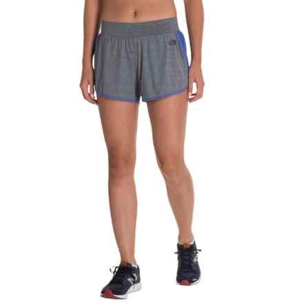 The North Face Versitas Shorts - Built-In Briefs (For Women) in Tnf Dark Grey Heather (Std)/Amparo Blue - Closeouts
