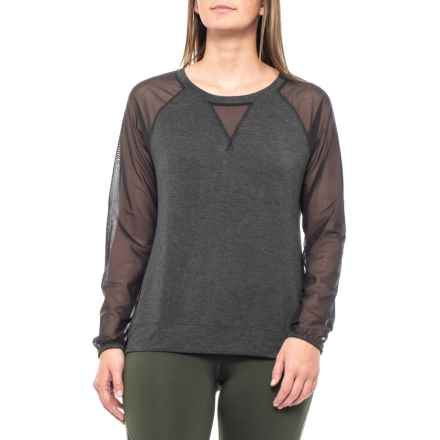 c3215d62a20b1 The North Face Vision Shirt - Long Sleeve (For Women) in Tnf Black Heather