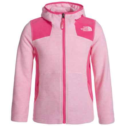 The North Face Viva Fleece Hoodie - Full Zip (For Little and Big Girls) in Coy Pnk Heather - Closeouts