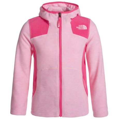 The North Face Viva Fleece Hoodie - Full Zip (For Little and Big Girls) in Coy Pnk Heather