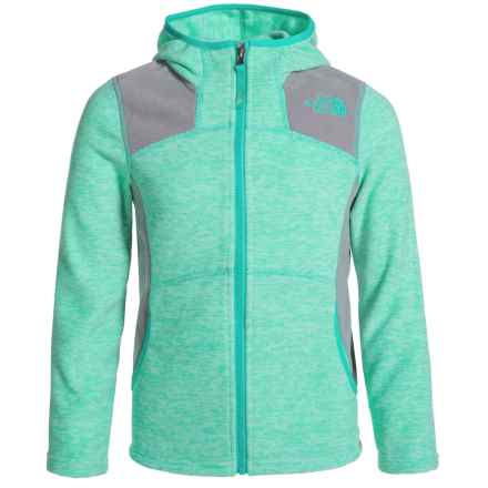 The North Face Viva Fleece Hoodie - Full Zip (For Little and Big Girls) in Icegreenheather - Closeouts
