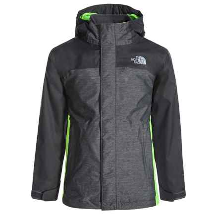 The North Face Vortex Triclimate® 3-in-1 Hooded Jacket - Waterproof, Insulated (For Little and Big Boys) in Graphite Grey Heather - Closeouts