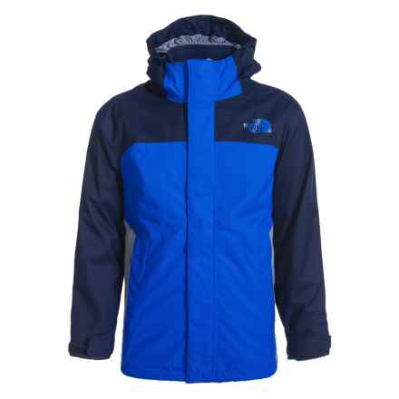 The North Face Vortex Triclimate® 3-in-1 Hooded Jacket - Waterproof, Insulated (For Little and Big Boys) in Jake Blue - Closeouts