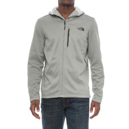 The North Face Wakerly Hoodie - Full Zip (For Men) in Monument Grey/High Rise Grey - Closeouts
