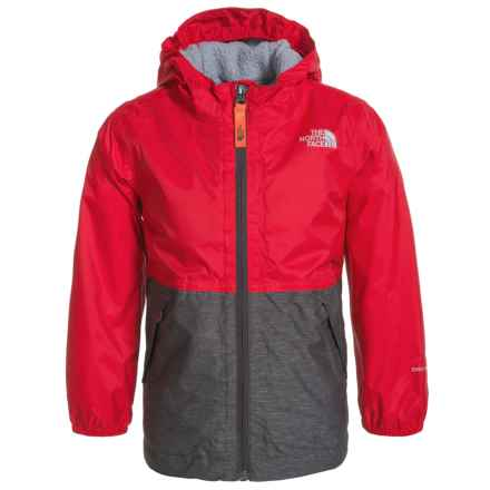 The North Face Warm Storm Jacket - Waterproof, Fleece Lined (For Little and Big Boys) in Tnf Red - Closeouts