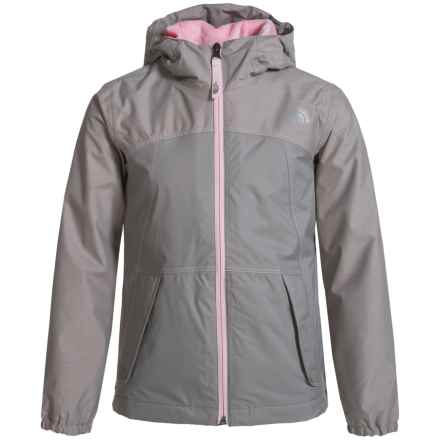 The North Face Warm Storm Jacket - Waterproof, Fleece Lined (For Little and Big Girls) in Metallic Silver - Closeouts