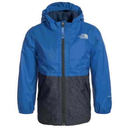 The North Face Warm Storm Jacket - Waterproof, Fleece Lined (For Toddler Boys) in Jake Blue - Closeouts