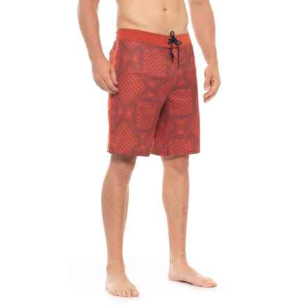 The North Face Whitecap Boardshorts (For Men) in Bossa Nova Red Bandana Print - Closeouts