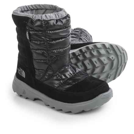 The North Face Winter Camp Snow Boots - Waterproof, Insulated (For Little and Big Kids) in Tnf Black/Griffin Grey - Closeouts