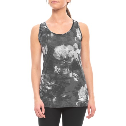 930b318949a8c Clearance. The North Face Workout Racerback Tank Top (For Women) in Tnf  Black Botancal Print