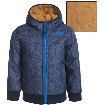 The North Face Yukon Jacket - Reversible, Insulated (For Toddler Boys) in Cosmic Blue Denim Print - Closeouts